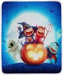 TropicalLife Happy <b>Halloween Pattern</b> Throw Blanket Soft <b>Velvet</b> ...