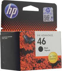<b>Картридж HP 46</b>, черный, для струйного принтера, оригинал ...