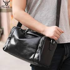 <b>Flanker 2019</b> brand <b>genuine leather</b> men travel bags vintage hand ...