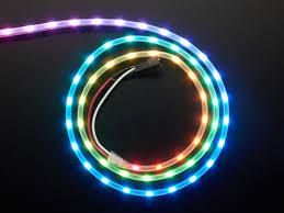 Adafruit NeoPixel <b>LED</b> Side <b>Light Strip</b> - Black <b>60 LED</b> ID: 3636 ...