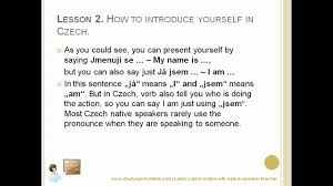lesson how to introduce yourself in czech how to introduce yourself in czech
