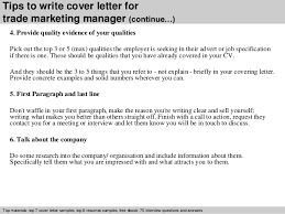 4 tips to write cover letter for trade marketing manager marketing manager cover letters