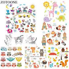 2019 <b>ZOTOONE Iron</b> On <b>Cartoon</b> Animal Patches For Kids Clothes ...