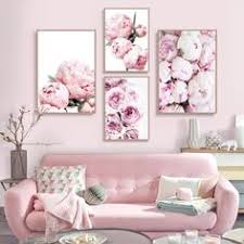 <b>cuadro</b> decoracion <b>salon Pink</b> Peony Posters and Prints Canvas ...