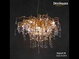 <b>Подвесной светильник Divinare</b> Salice 3132/16 SP-9 - YouTube