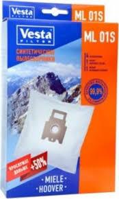 <b>Vesta</b> filter ML 01 S <b>комплект</b> пылесборников, 4 шт + 2 <b>фильтра</b> ...