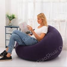 1 Pcs Flocking <b>inflatable</b> lazy football <b>sofa small</b> apartment home ...