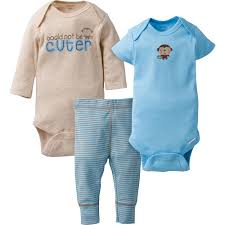 <b>3-Piece</b> Boys <b>Monkey</b> Take-Me-Home <b>Set</b> – Gerber Childrenswear