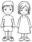 Раскраски мальчик с девочкой