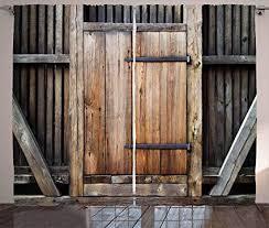 Ambesonne Antique Curtains, Rustic Antique Wooden ... - Amazon.com