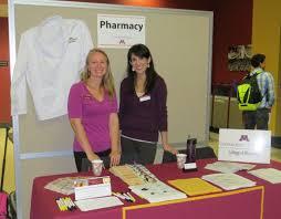 health careers fair health careers center university of minnesota photo of pharmacy table at health careers fair