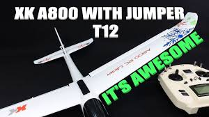 <b>XK A800</b> RC GLIDER OVERVIEW AND BINDING TO JUMPER T12 ...