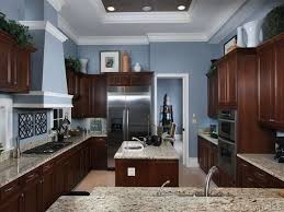 painted blue kitchen cabinets house: i like this wall color and its nice that the floor is lighter than cabinets