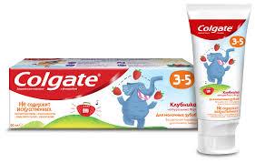 <b>Зубная паста</b> Colgate Клубника 3-<b>5</b> лет с фторидом — купить по ...