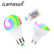 E27 LED Bulb 85 265V <b>GU10 Lampada Led Lamp</b> RGB RGBW ...