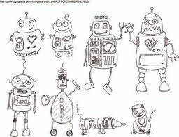 Small Picture free robot coloring pages printable robots coloring page i created
