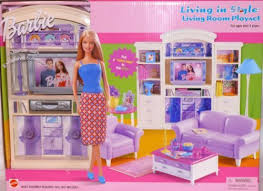 living room barbie furniture living in style new mattel doll house playset ebay furniture in style