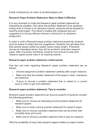 calam eacute o research paper problem statement ways to make it effective