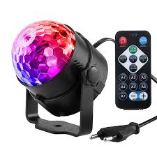 Sound Activated Rotating Disco Ball Party Lights Strobe Light 3W ...