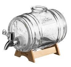 Диспенсер для напитков <b>1 л</b> на деревянной подставке, <b>Kilner</b>