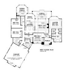images about New Home on Pinterest   Floor plans  Large    Best One Story House Plans   Picture Gallery of the Open Floor House Plans One Story
