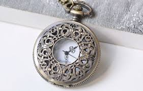 1 PC Antique <b>Bronze</b> Steampunk Round <b>Pocket Watch</b> 47mm A1378