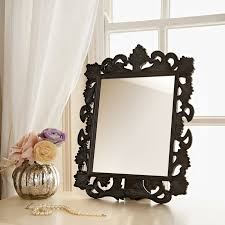 table mirror: click on image to enlarge  ornate dressing table mirror black