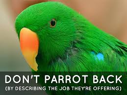 describe your ideal job by dan armishaw don t parrot back by describing the job