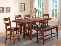 cherry counter height piece: peyton  piece counter height dining set in in cherry finish by crown mark