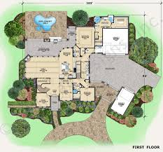 Augusta House Plans   Home Plans By Archival DesignsAugusta House Plan   Augusta   Texas Style House Plan   First Floor