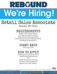 retail s associate job opportunity at rebound the hub rebound 2016 retail s associate