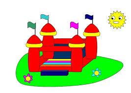 Resultado de imagen de dibujos fiesta infantil CASTILLO HINCHABLE