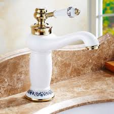 Handle Bathroom <b>Brass Antique</b> Basin <b>Faucets Ceramic</b> ...