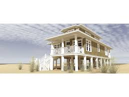 Raised Beach House With Classic Cape Cod Style HWBDO   Cape    Raised Beach House With Classic Cape Cod Style HWBDO   Cape Cod from BuilderHousePlans com