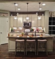tiny room island pendant lights white color perfect granite countertop three bar wooden floor best lighting for a kitchen