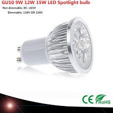 1pcs Super Bright 9W 12W 15W GU10 <b>LED</b> Bulb 110V <b>220V Led</b> ...