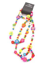 <b>Children's</b> Wooden Necklace and Bracelet Set - <b>Gorgeous Flowers</b> ...
