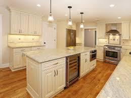 limestone tiles kitchen: traditional kitchen with raised panel stone tile pendant light flush limestone tile