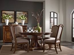 Kincaid Dining Room Sets Stellia 60quot Round Solid Wood Dining Table With Carved Wood