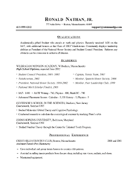 examples of college student resumesstudent resume example
