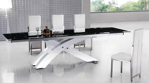 glass contemporary dining table