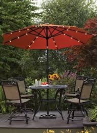 better homes and gardens 9 round umbrella with solar lights orange brick better homes and gardens lighting
