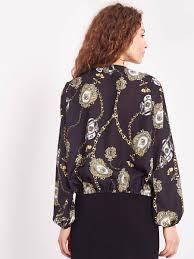 <b>Блуза</b> на запах с рисунком в виде цепей купить в интернет ...