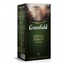 <b>Чай GREENFIELD Silver</b> Fujian, <b>черный</b>, пакетированный, 25 пак ...