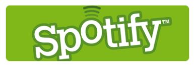 Logga för Spotify som är en onlinemusiktjänst