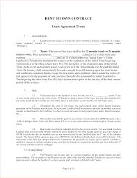 rent to own agreement sample anuvrat info 4 rent to own contract samplereport template document report