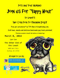 yappy hour for pets and their humans a benefit for the coalition end of the leash flyer