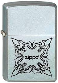 <b>Зажигалка Zippo</b> №<b>205 Tattoo Design</b> с покрытием Satin Chrome ...