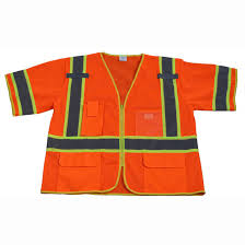 10 Hi Vis Safety Vest <b>Reflective</b> Tape Workwear <b>Orange Green</b> ONE ...