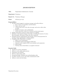 department manager responsibilities resume description s associate duties resume